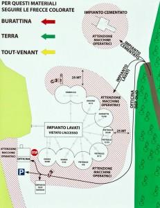 Inerti Camalo' - Schema ubicazione impianti