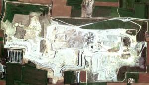 Inerti Camalò - Vista dal satellite