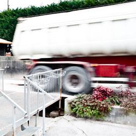Inerti Camalò - Camion in partenza